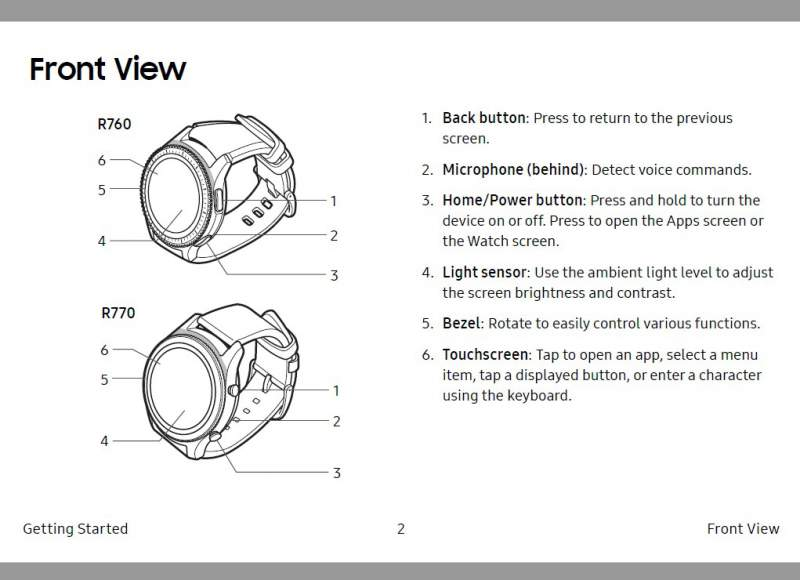 samsung gear s3 frontier sm-r760 user manual