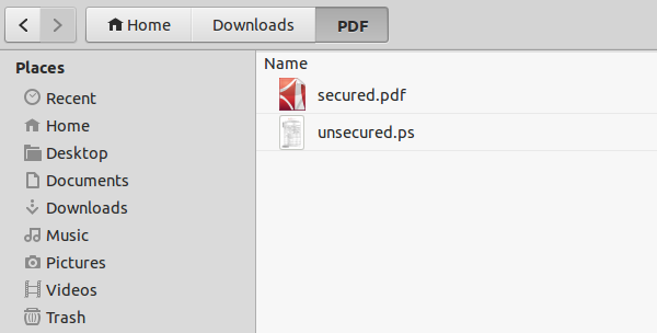 pdf secured to unsecured