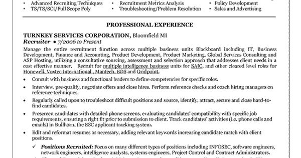 sample excellent career objectives for recruiters